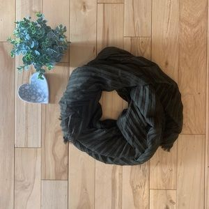 Pleated Olive Scarf